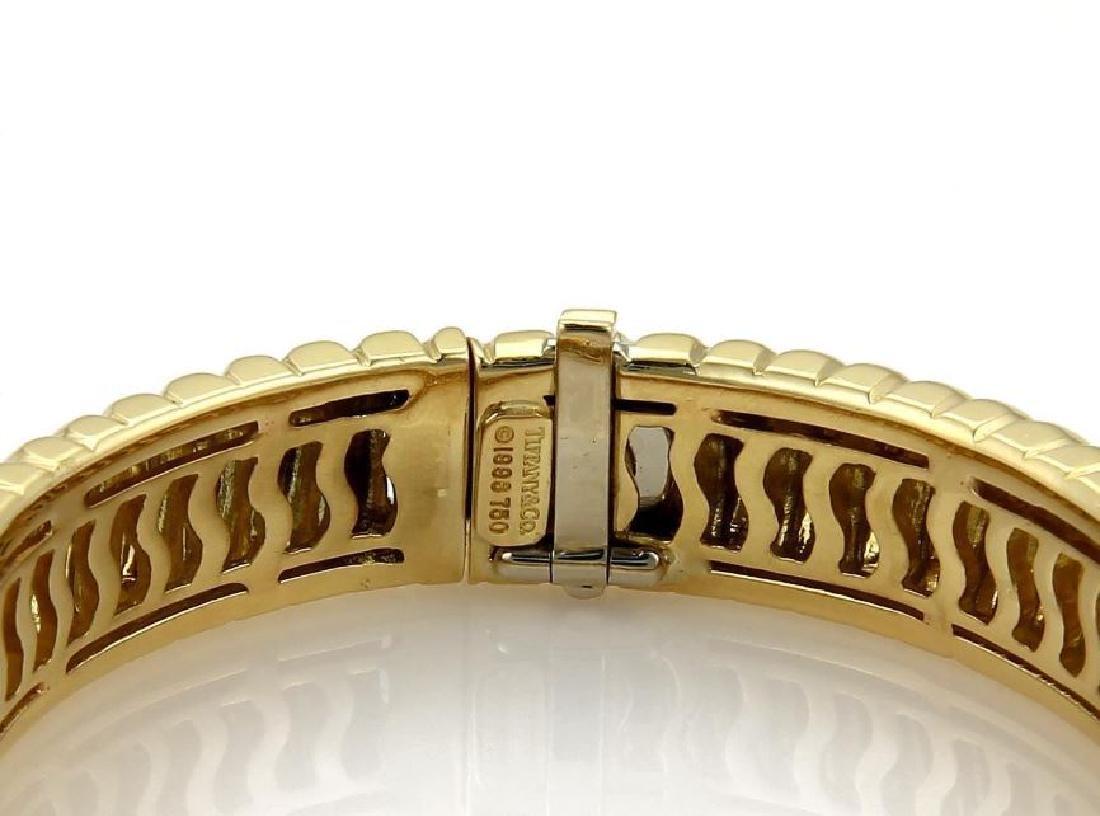 Tiffany&Co Cordis 18k Gold Grooved Bangle Bracelet - 4