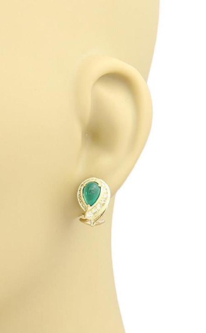 David Webb, Sapphire & Diamond 18k Gold Earrings - 2
