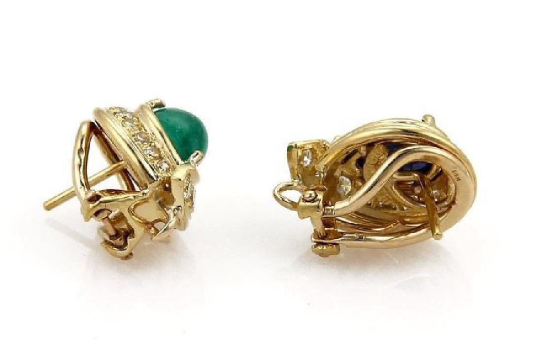David Webb, Sapphire & Diamond 18k Gold Earrings - 3
