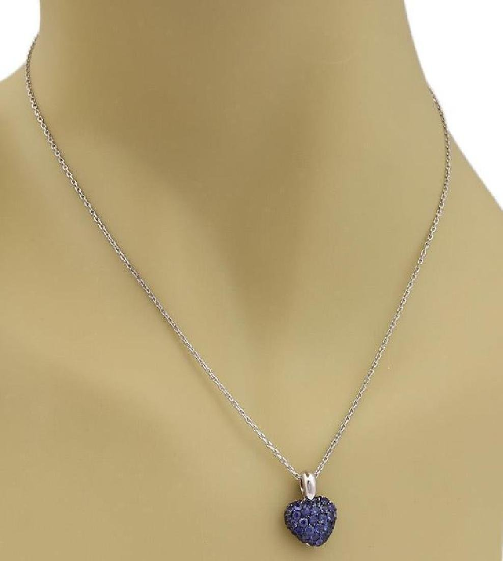 Chopard Sapphire Heart Pendant 18k Gold Necklace - 2