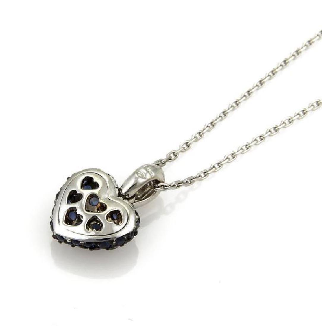 Chopard Sapphire Heart Pendant 18k Gold Necklace - 4