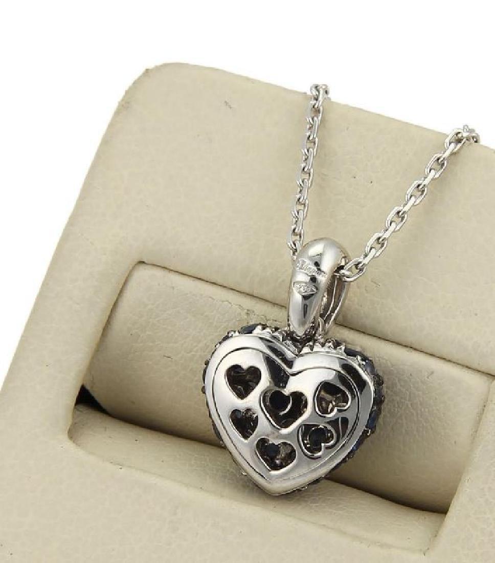 Chopard Sapphire Heart Pendant 18k Gold Necklace - 5
