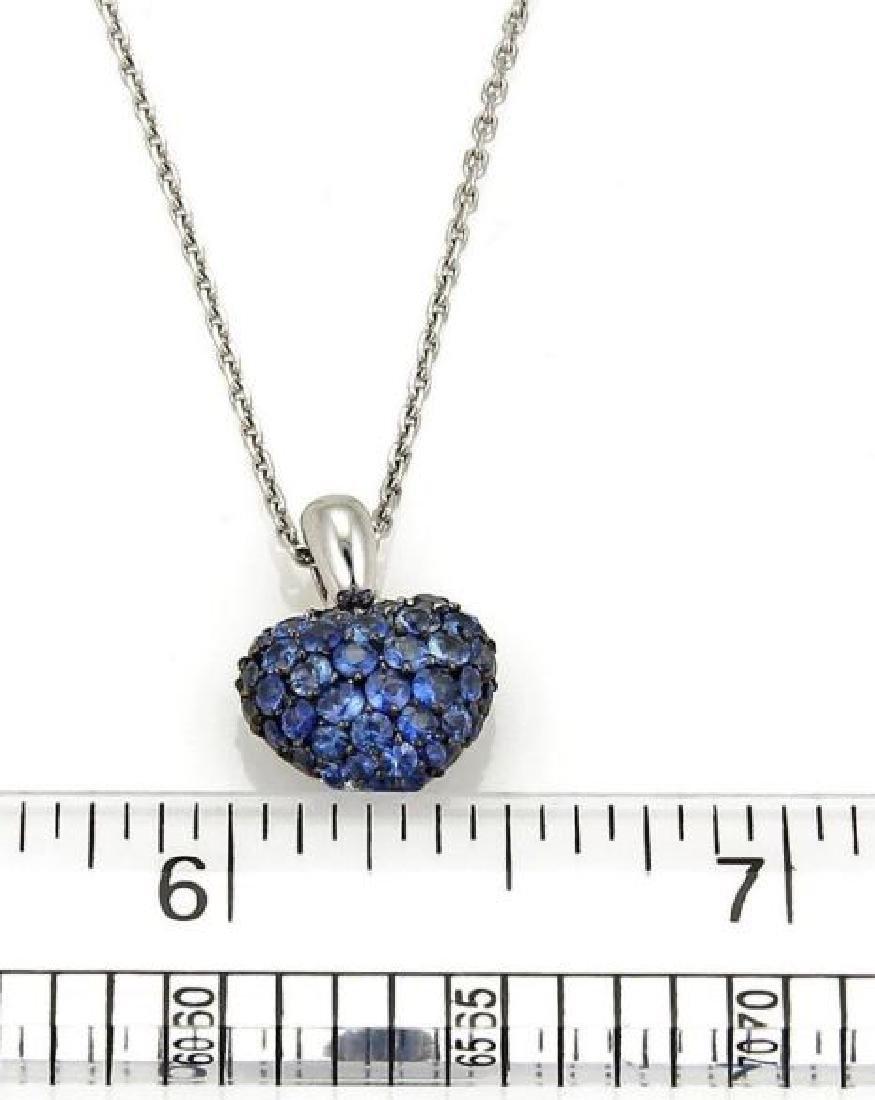 Chopard Sapphire Heart Pendant 18k Gold Necklace - 8