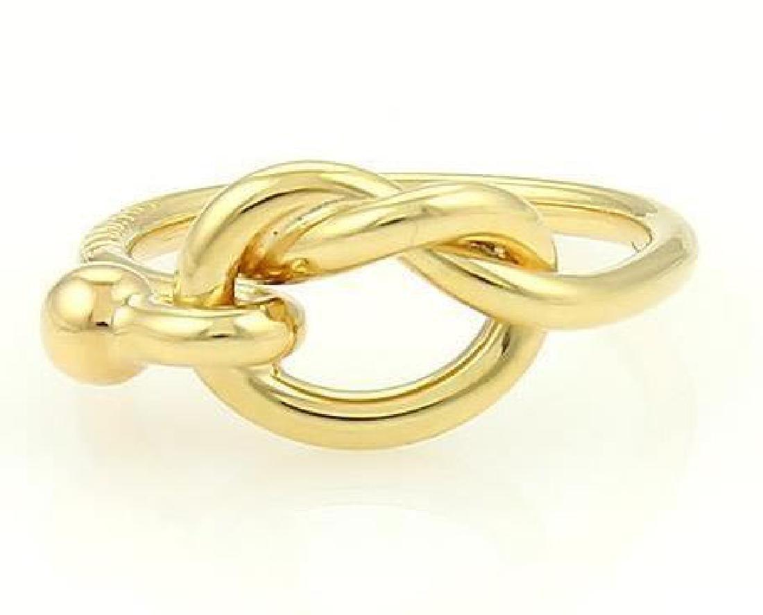 Tiffany & Co. 18k Yellow Gold Hook & Eye Ring