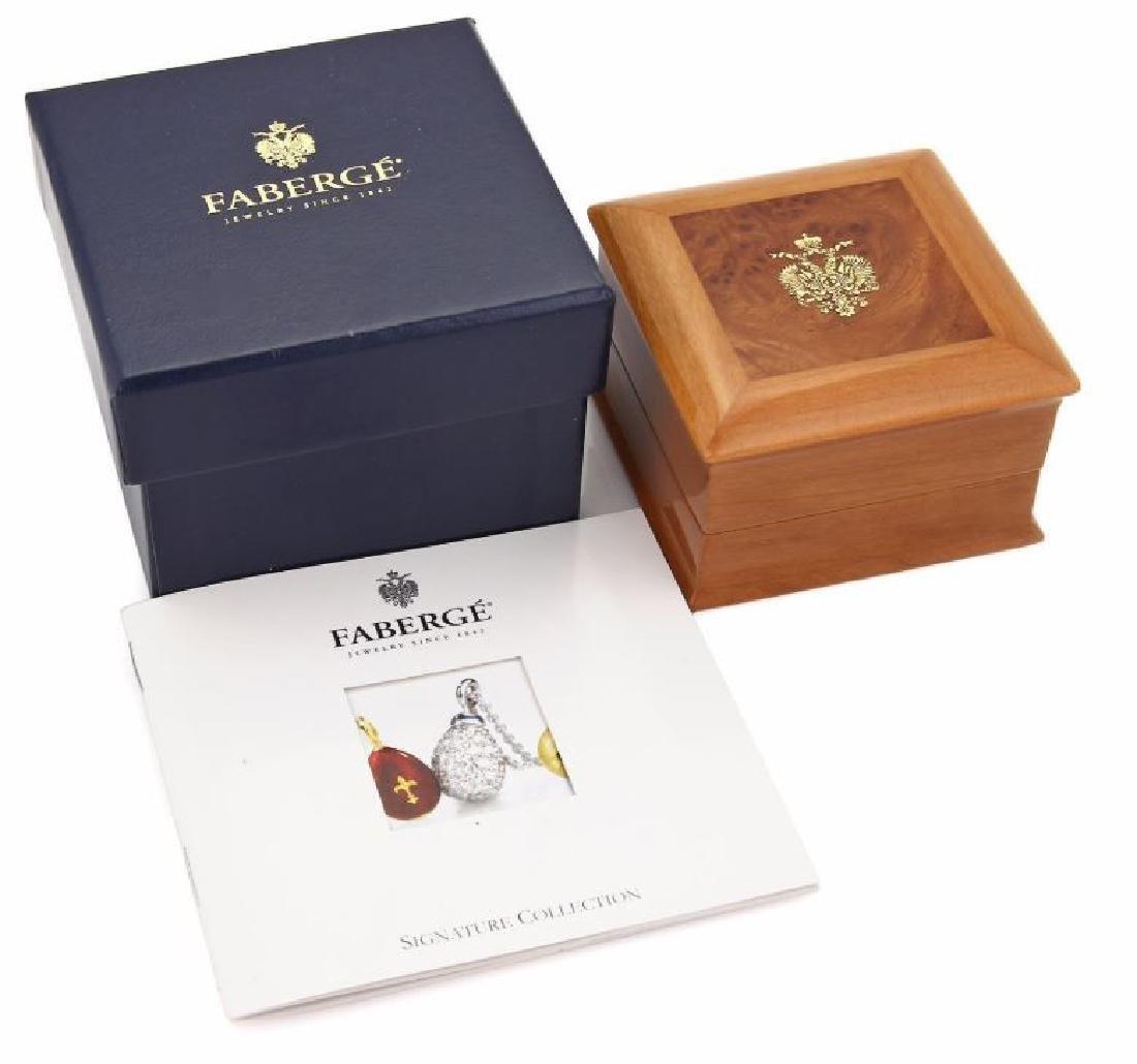 Faberge Diamond Sapphire, Enamel 18k Gold Earrings - 7