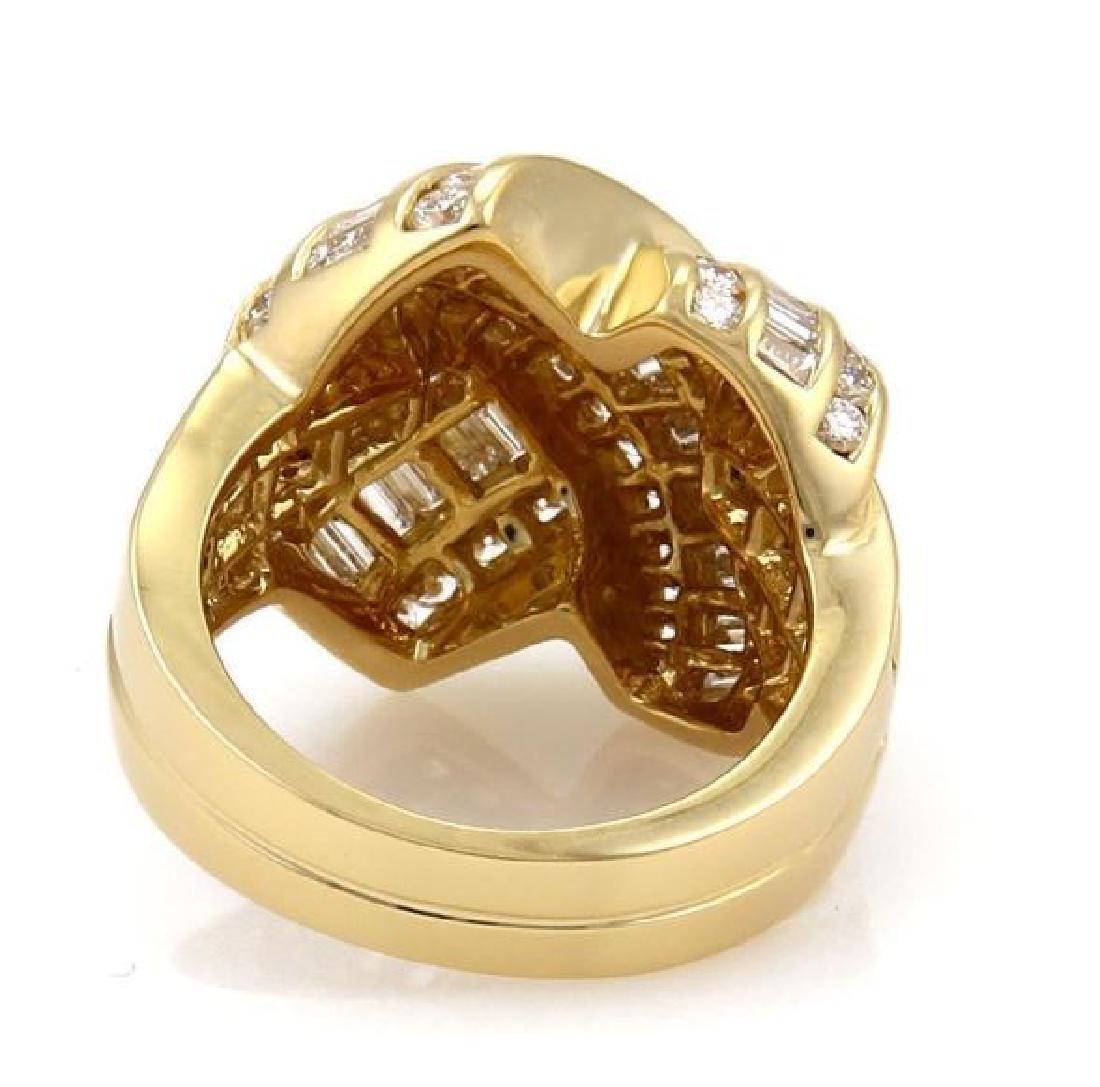 Charles Krypell Diamond X Crossover 18k Gold Ring - 3