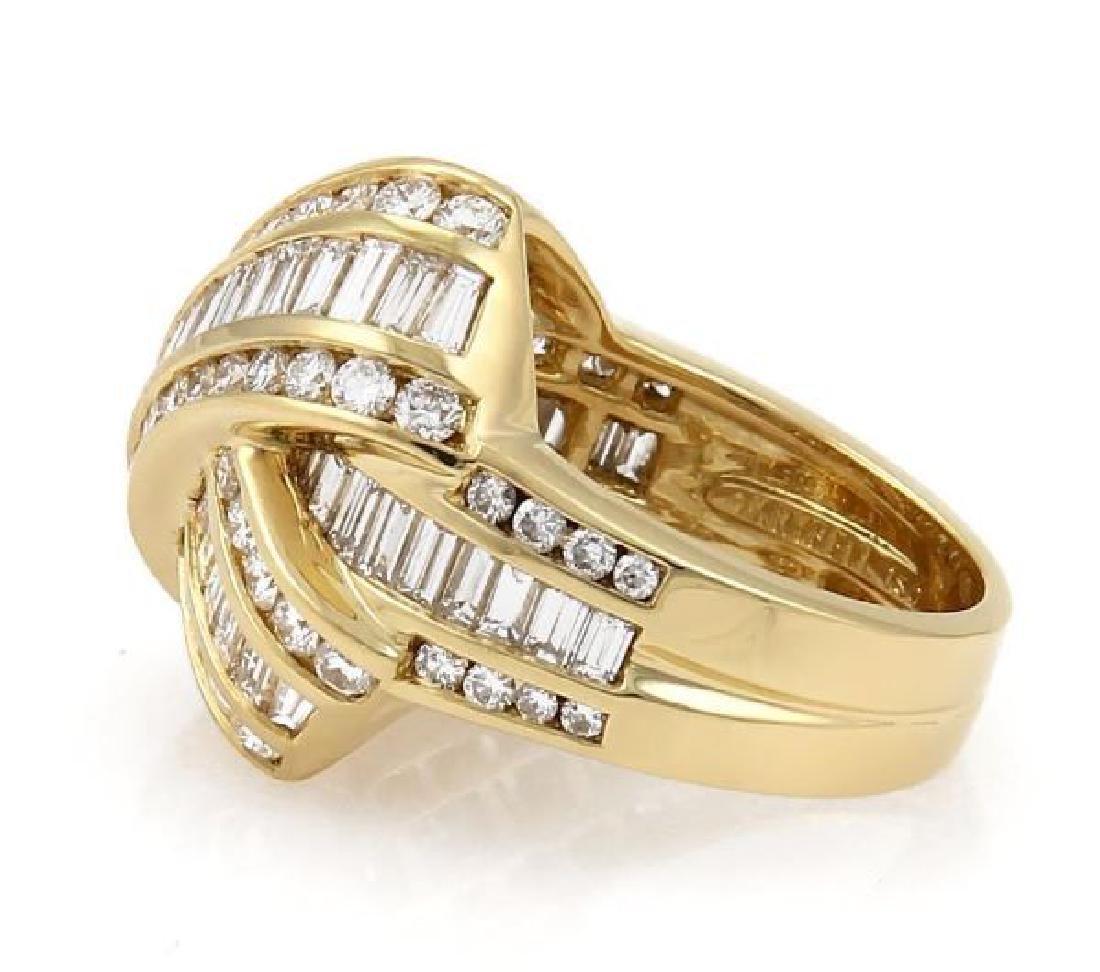 Charles Krypell Diamond X Crossover 18k Gold Ring - 4