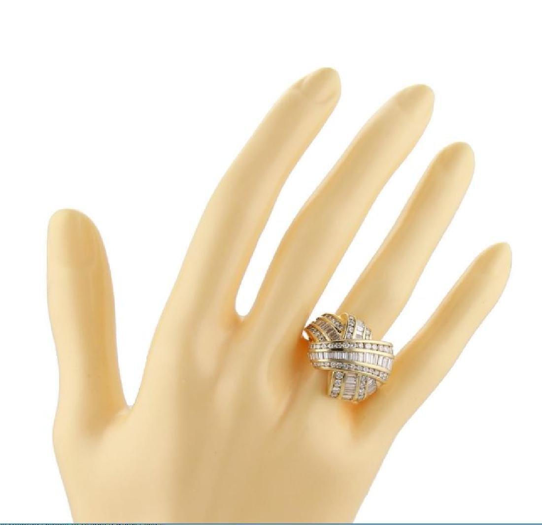 Charles Krypell Diamond X Crossover 18k Gold Ring - 6