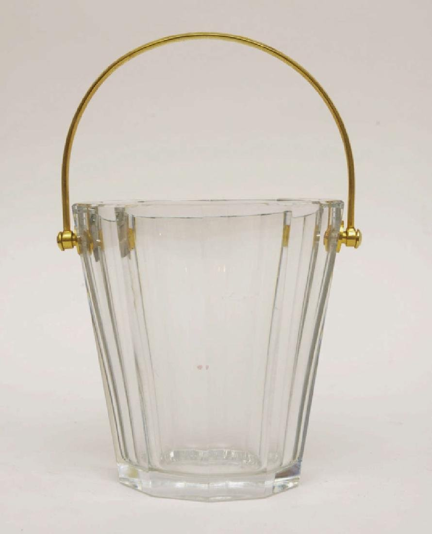 Baccarat French Lead Glass Ice Bucket