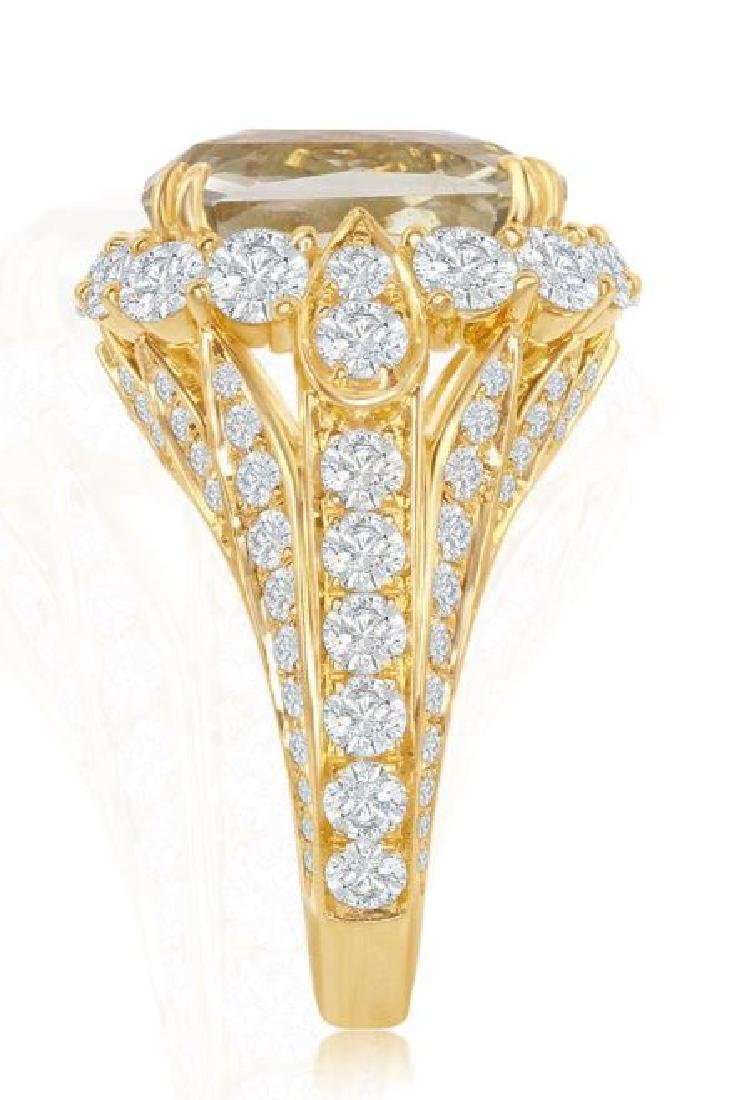 18K GOLD SAPPHIRE RING 3.74ct DIAMONDS, AGL CERT. - 3