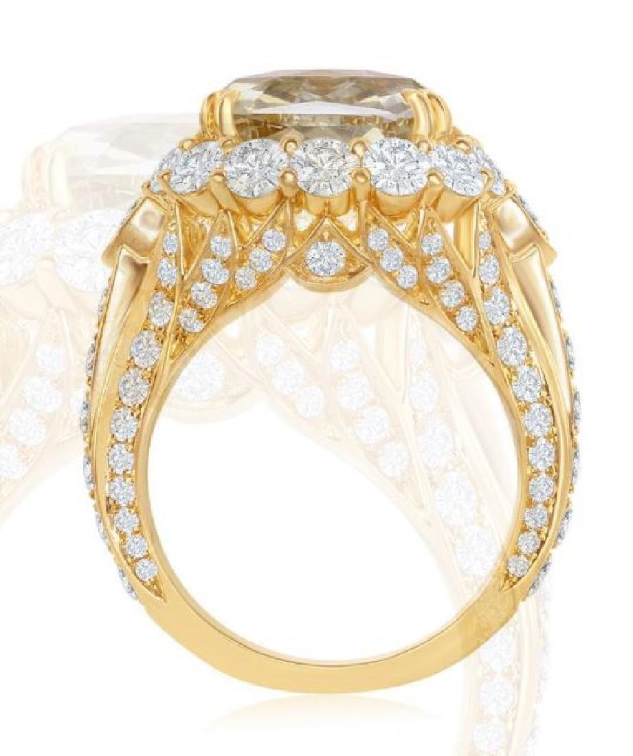 18K GOLD SAPPHIRE RING 3.74ct DIAMONDS, AGL CERT. - 4