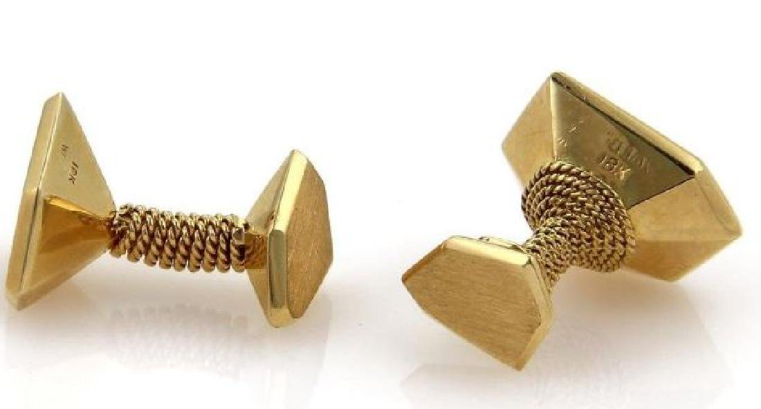 David Webb 18k Gold Carved Scorpion Stud Cufflinks - 3