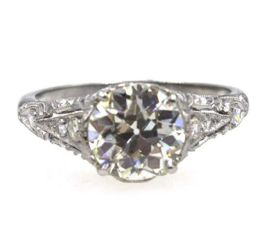 2.41TCW Diamond Art Deco Engagement Ring