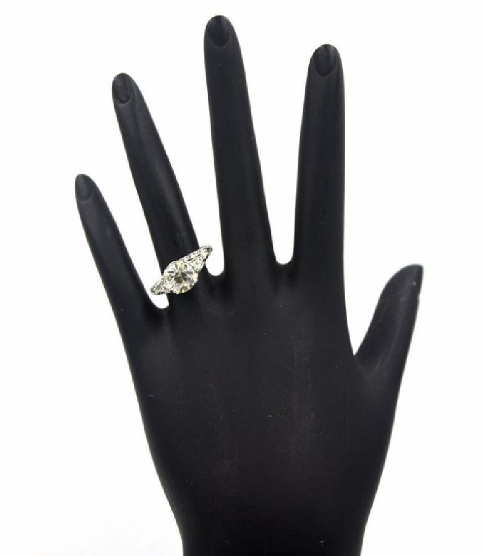 2.41TCW Diamond Art Deco Engagement Ring - 2