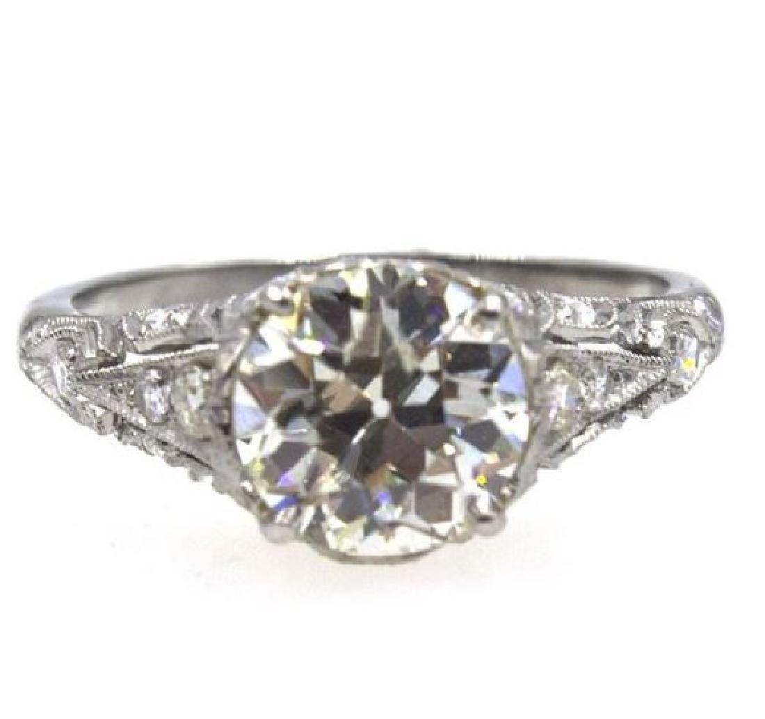 2.41TCW Diamond Art Deco Engagement Ring - 3