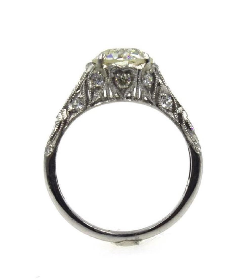 2.41TCW Diamond Art Deco Engagement Ring - 4