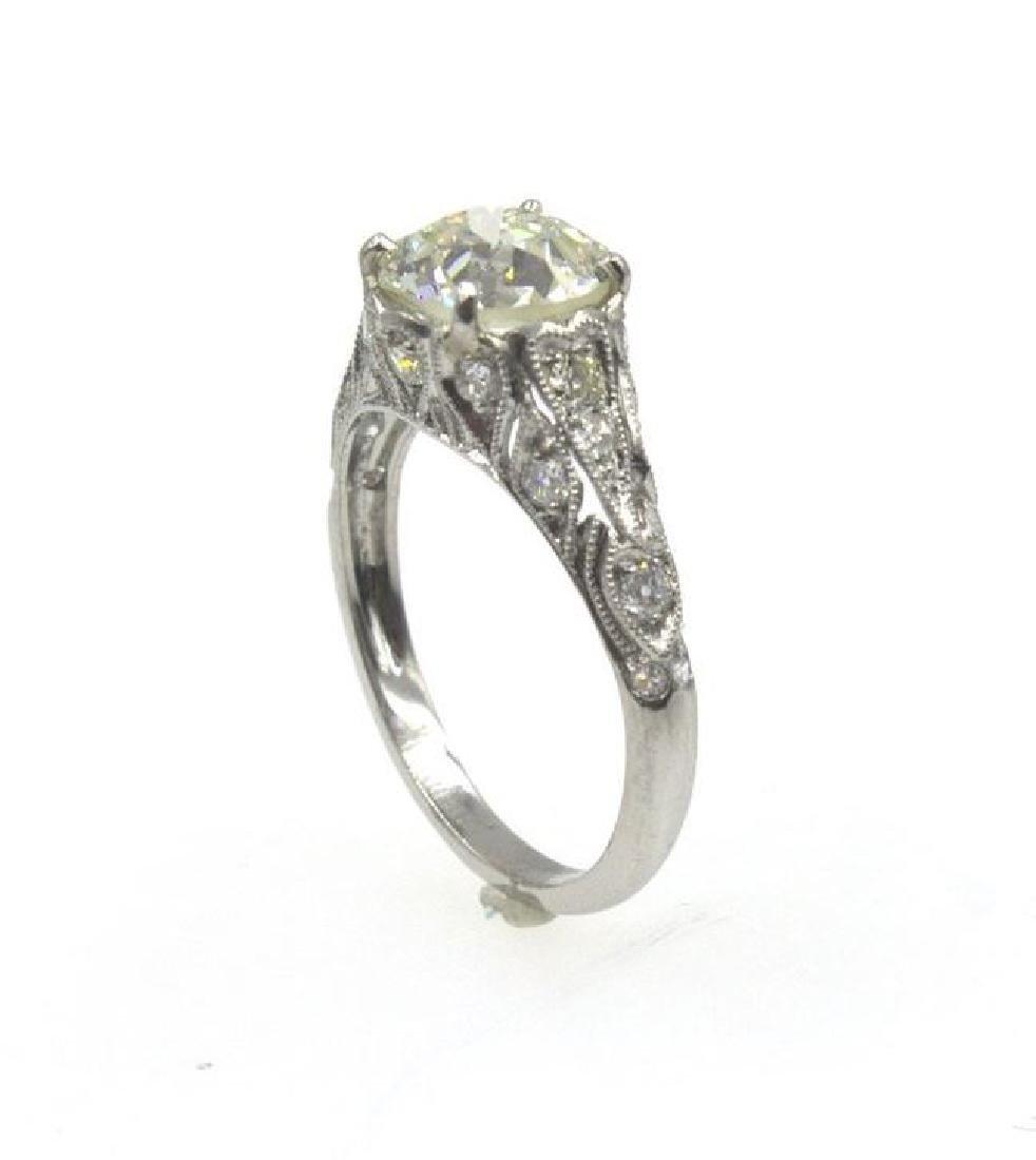 2.41TCW Diamond Art Deco Engagement Ring - 5