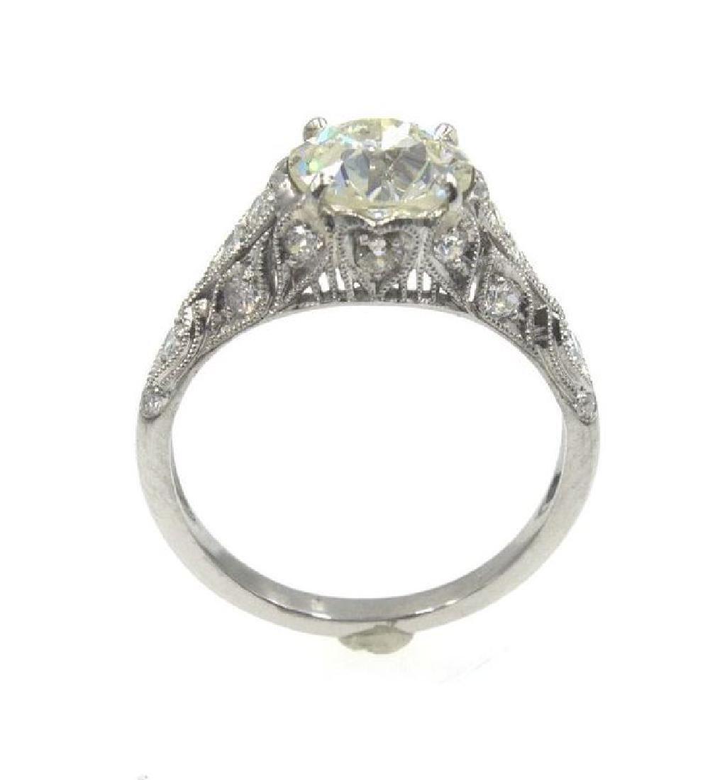 2.41TCW Diamond Art Deco Engagement Ring - 6