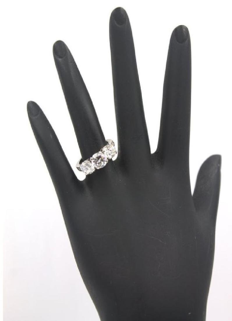 Tiffany & Co 2.77 Ct Three Diamond Platinum Ring - 3