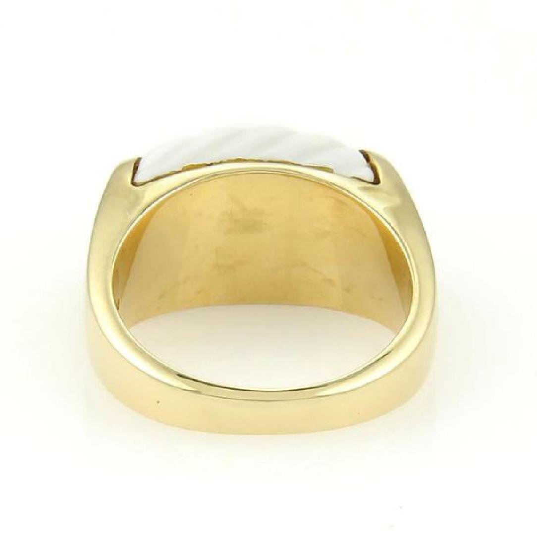 Bulgari Tronchetto 18k Y/Gold & White Ceramic Ring - 4