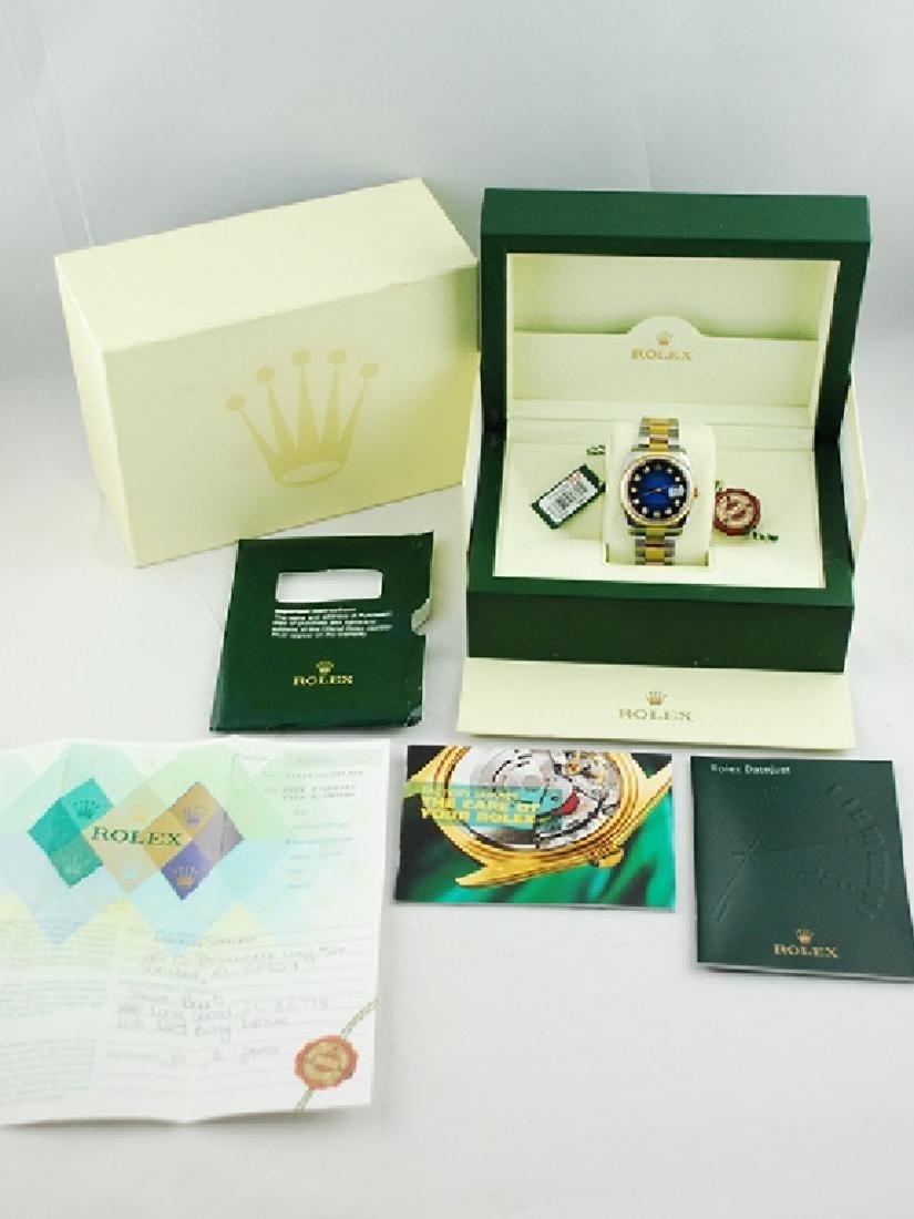 Rolex Datejust SS/YG Blue Vignette Diamond Dial - 2