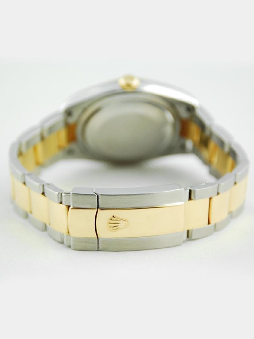 Rolex Datejust SS/YG Blue Vignette Diamond Dial - 3