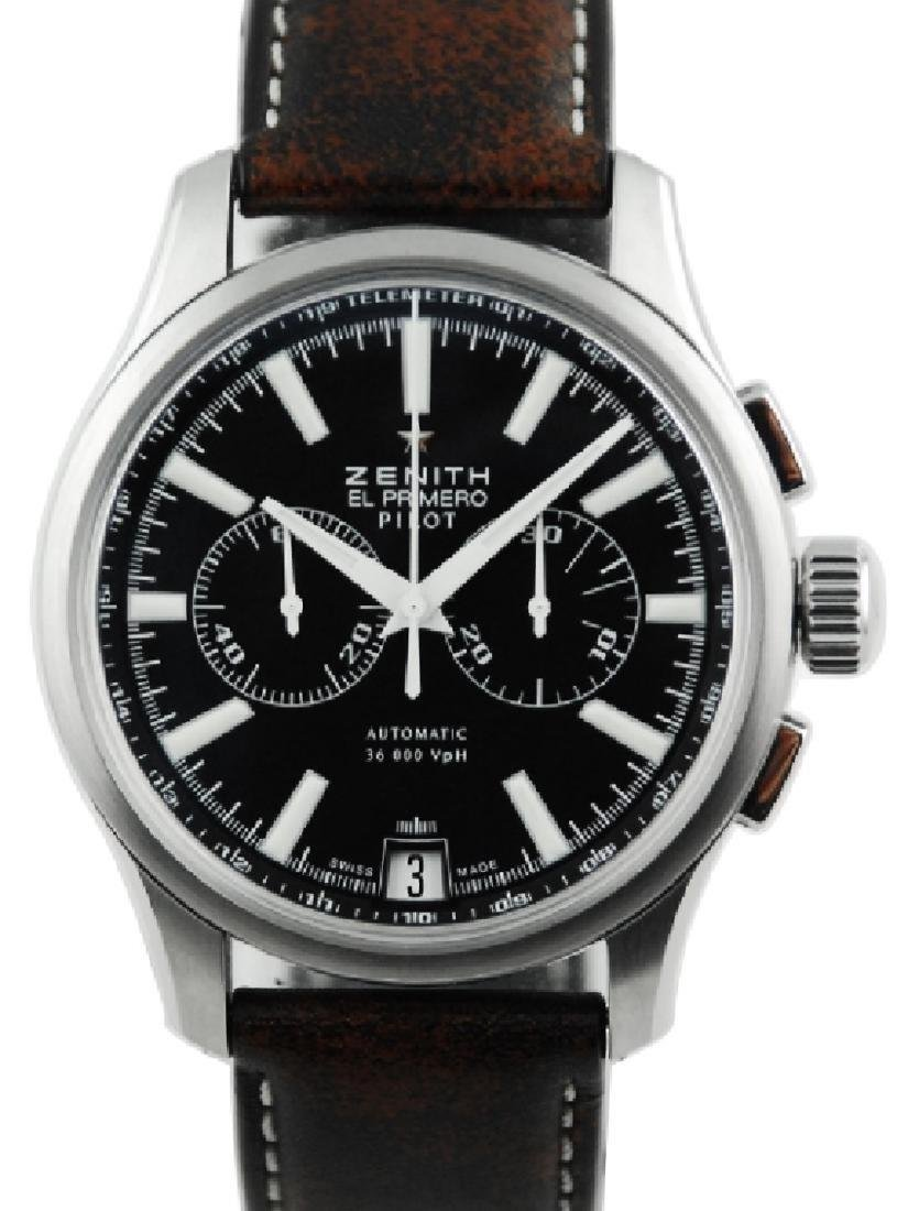 Zenith Pilot Chronograph Black Dial - 03.2117.4002
