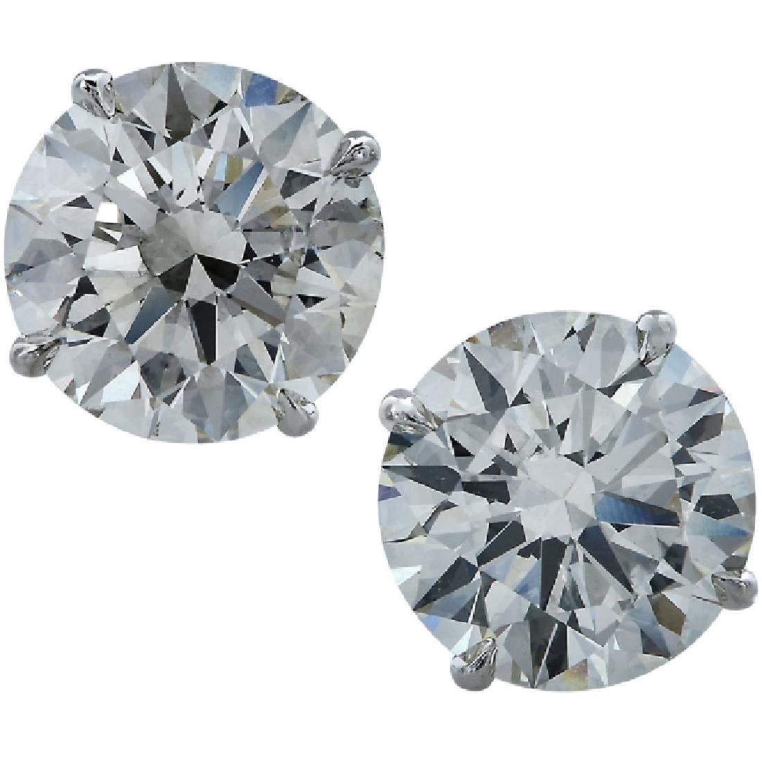 Diamond Stud 6.92 Carat Total Weight Earrings