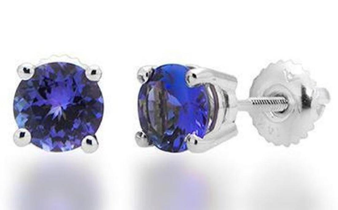 BEAUTIFUL TANZANITE STUDS