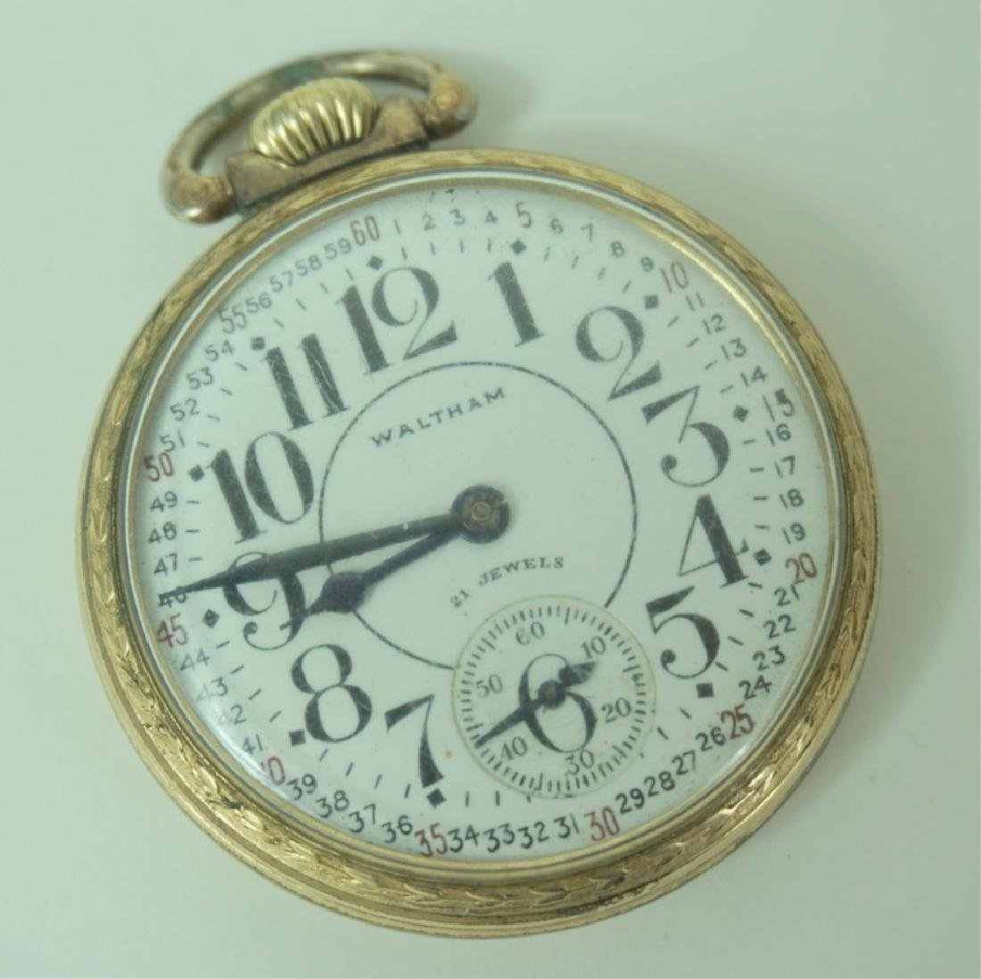Antique Waltham Gold Plated Railroad Watch