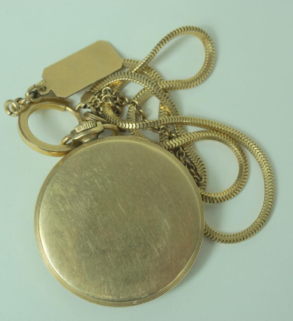 Elgin DeLuca EH Smith 10K GF Pocket Watch w/ Chain - 2