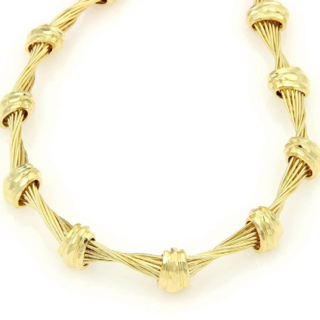 Henry Dunay Design 18K Yellow Gold Choker Necklace