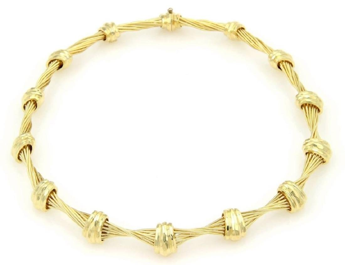 Henry Dunay Design 18K Yellow Gold Choker Necklace - 2