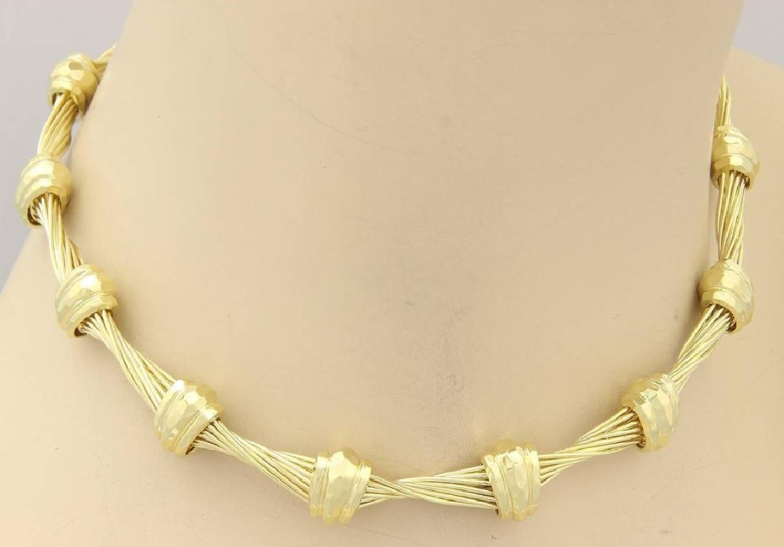 Henry Dunay Design 18K Yellow Gold Choker Necklace - 3
