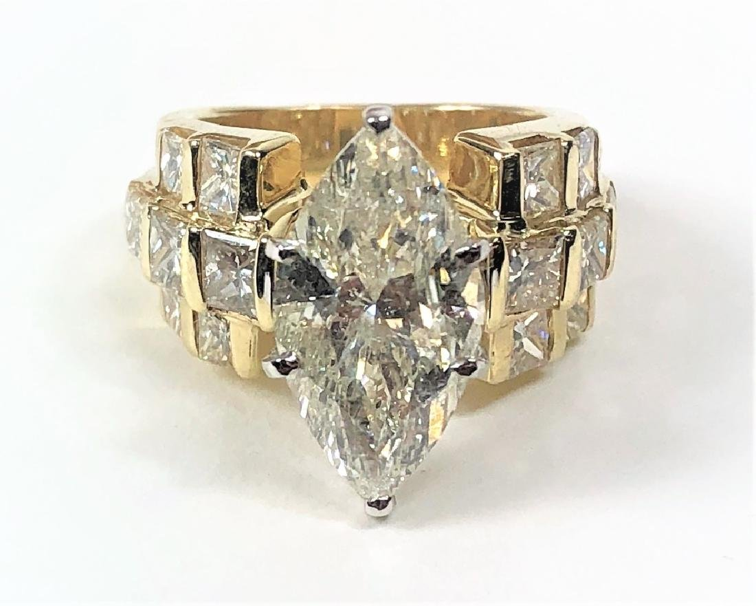 Approx. 7.00 TCW Marquise Diamond Solitaire Ring.