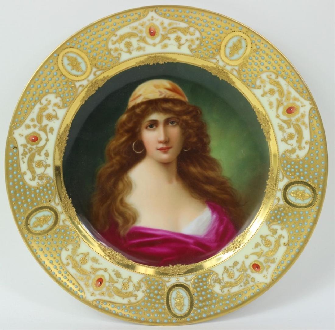 Royal Vienna Porcelain Cabinet Plate.