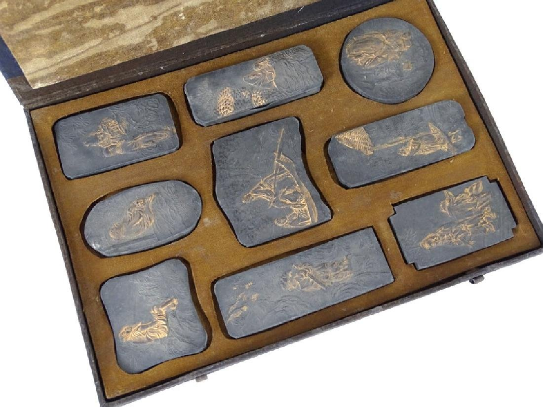 (10) TEN ANTIQUE CHINESE INK STONE - 2