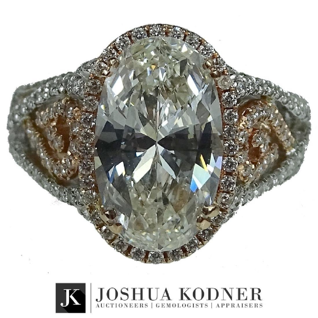 GIA certified, 4.92 CT Engagement Ring