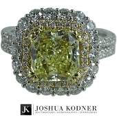 GIA Certified, 4.45 TCW Engagement Ring.