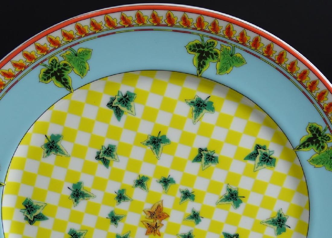"12 Versace Rosenthal Ivy Leaf 12"" Dinner Plates - 3"
