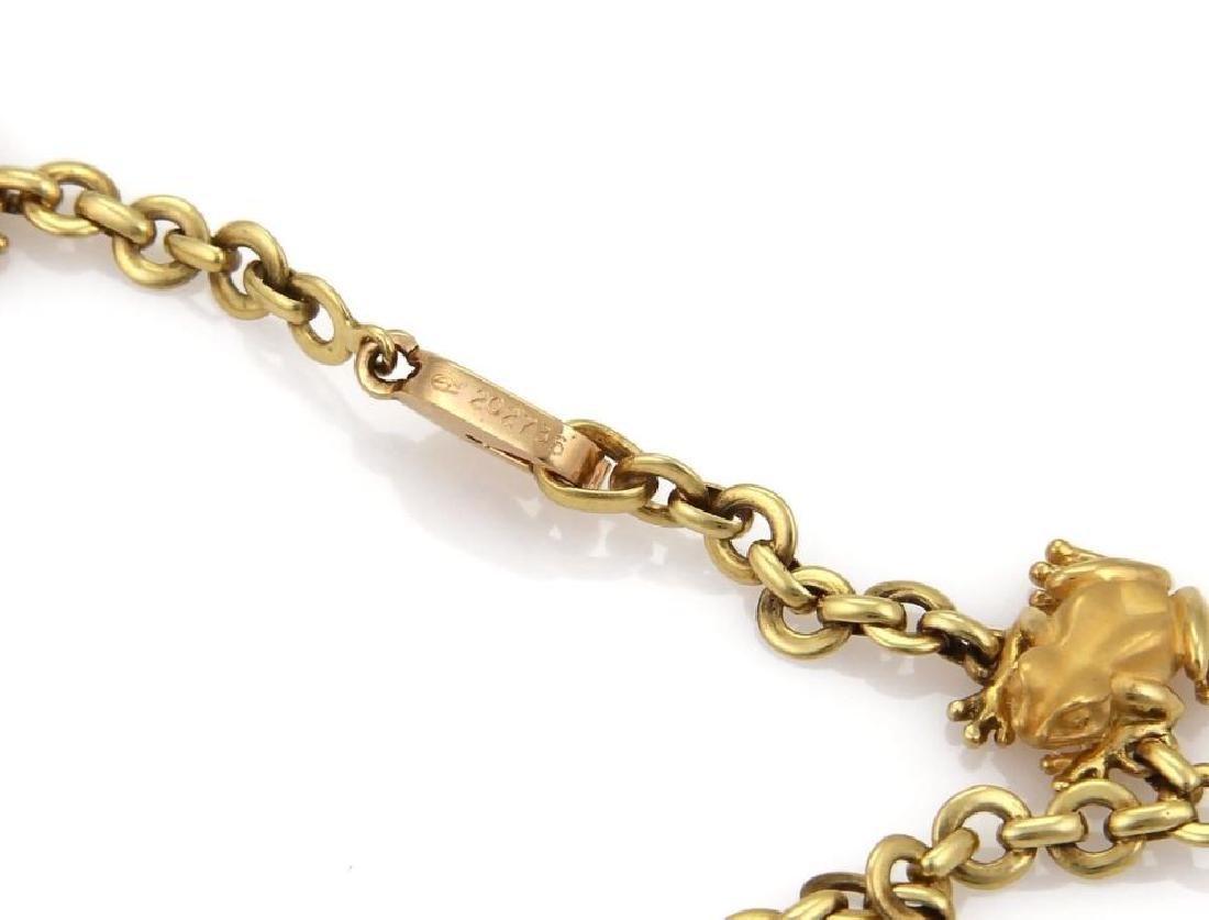 Carrera y Carrera 18k Gold Frog Charm Necklace - 4