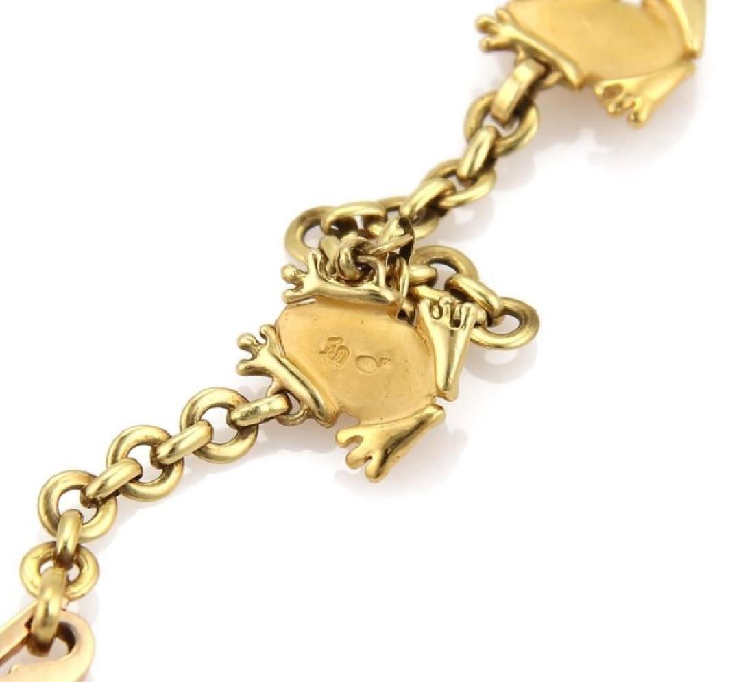 Carrera y Carrera 18k Gold Frog Charm Necklace - 5