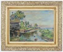 David Burliak Original River Scene Oil Painting