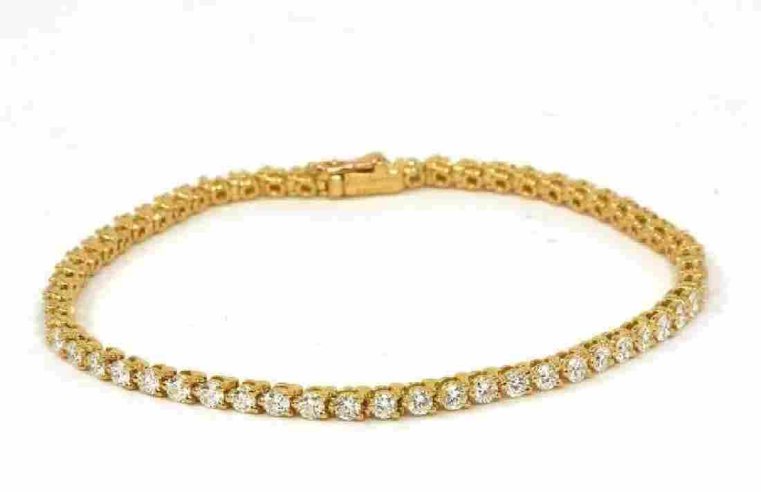 Cartier 3.0ct Diamond 18k Gold Tennis Bracelet Box