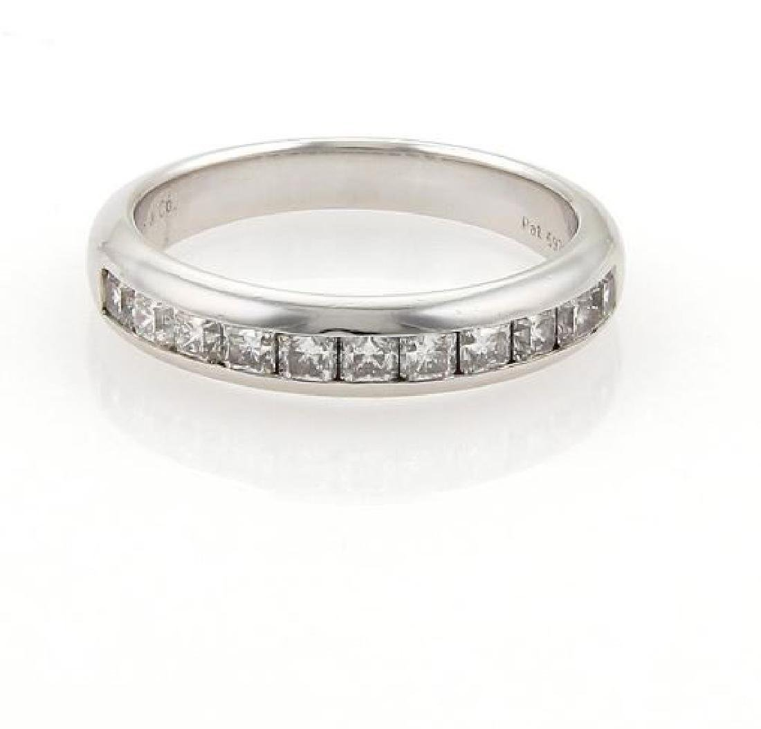 Tiffany&Co. Lucida Diamonds Platinum Wedding Band