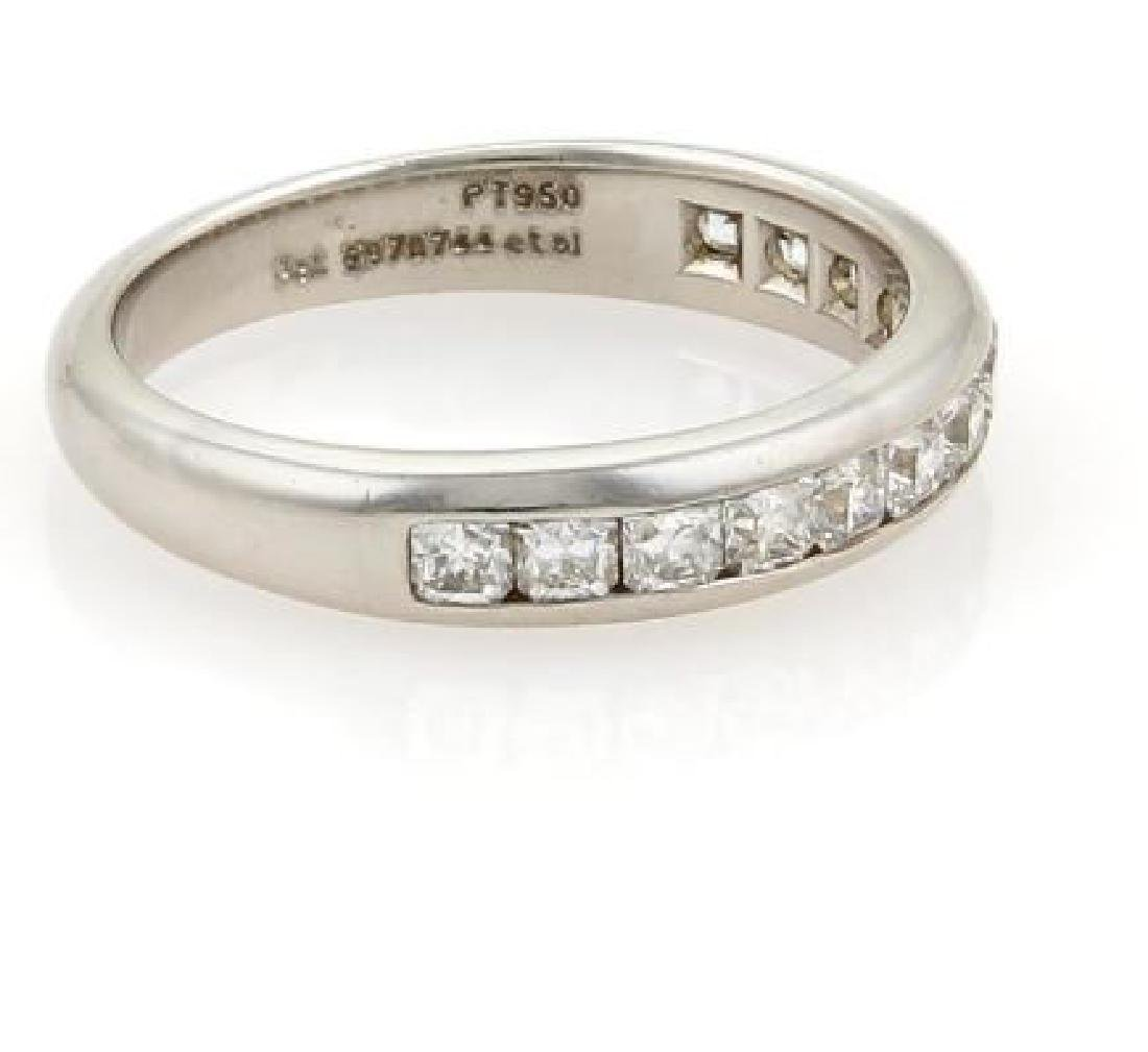 Tiffany&Co. Lucida Diamonds Platinum Wedding Band - 5