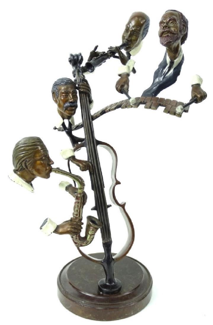 """Paul Wegner """"Bourbon Street"""" Bronze Musicians"""