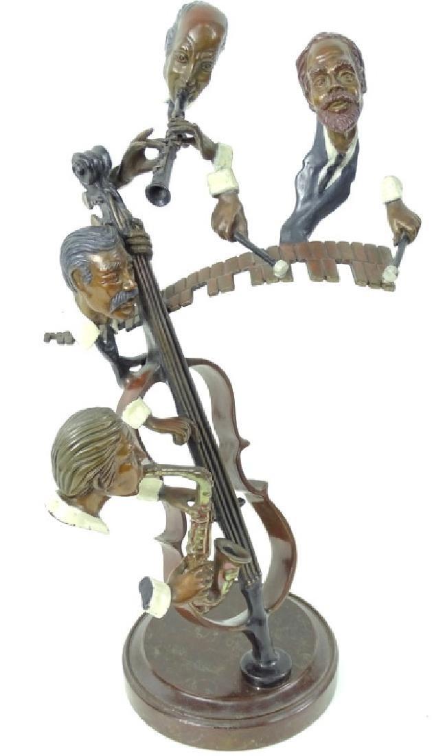 """Paul Wegner """"Bourbon Street"""" Bronze Musicians - 3"""