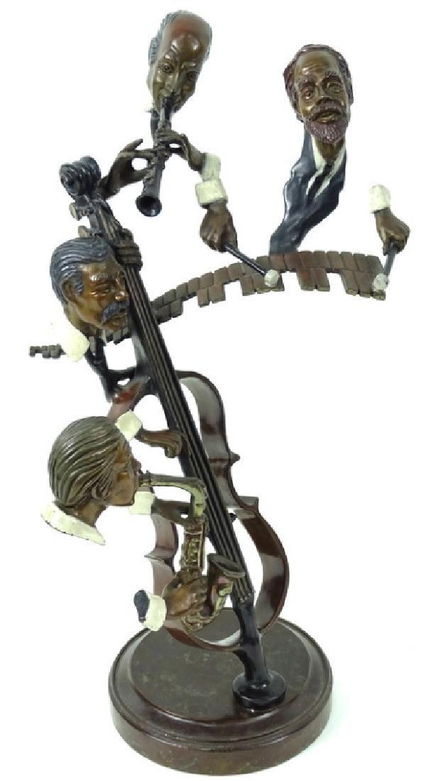 """Paul Wegner """"Bourbon Street"""" Bronze Musicians - 6"""