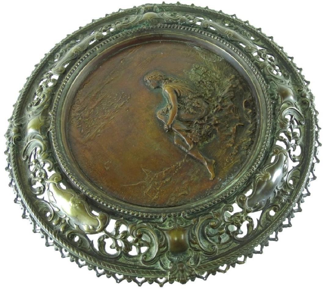 Antique Art Nouveau Bronze Crane Leg Pedestal - 10
